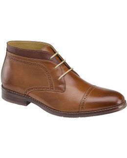 Men ́s Garner Leather Lace-up Chukka Boot