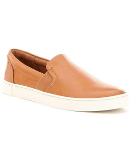 Ivy Soft Leather Slip On Sneakers