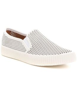Camille Perforated Leather Slip On Sneakers
