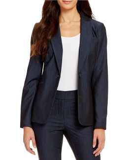 Luxe Stretch Dressy Denim Suiting Jacket