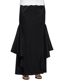 Long Flared-panel Skirt
