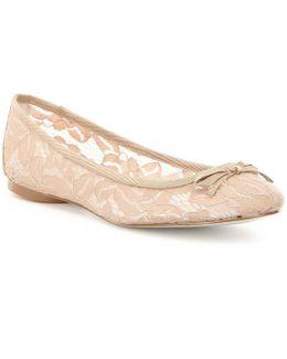 Sage Lace Ballet Flats