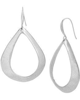 Open Sculptural Teardrop Earrings