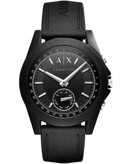 Ax Armani Exchange Connected Silicone-strap Hybrid Smart Watch