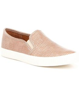 Camille Metallic Stitched Slip-on Sneakers
