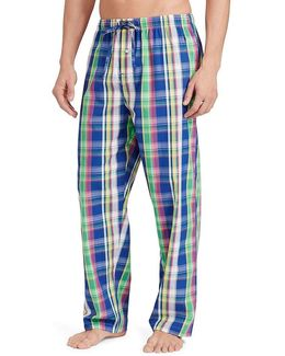 Button-fly Pajama Pants