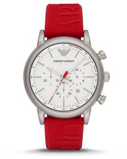 Luigi Chronograph & Date Logo Silicone-strap Watch
