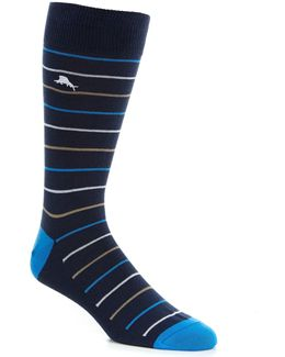 Baha Striped Crew Socks
