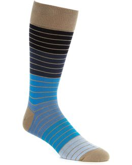 Color Block Striped Crew Socks