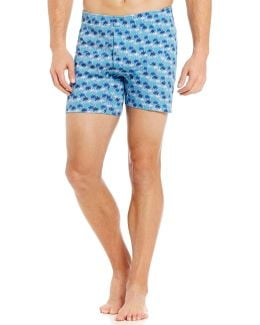 Modal Palm Tree Printed Boxer Briefs