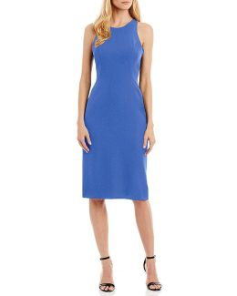Ruffle-back Midi Dress