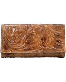 Burnished Tooled Collection Terresa Wallet