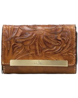 Burnished Tooled Collection Cametti Wallet