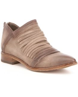 Lost Valley Sliced Leather Ankle Boots