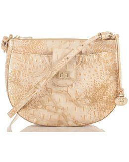 Melbourne Collection Vanessa Crocodile-embossed Cross-body Bag
