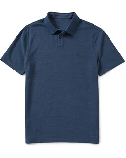 Reversible Slim-fit Short-sleeve Solid Polo Shirt