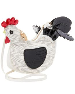 Rooster Woven Cross-body Bag