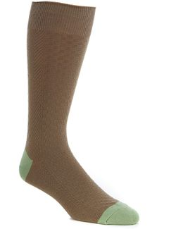 Basketweave Crew Socks