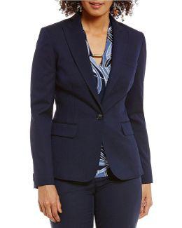 Washable Suiting One Button Notched Peak Lapel Jacket