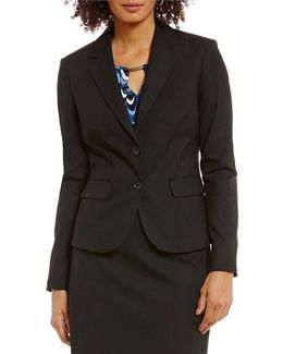 Washable Suiting Two-button Notch Lapel Jacket