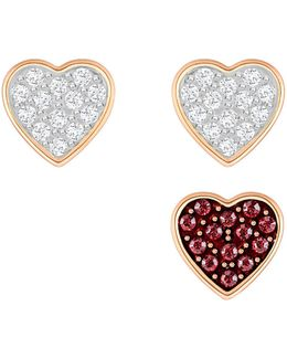 Crystal Wishes Heart Stud Earring Set