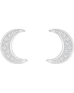 Crystal Wishes Moon Stud Earrings