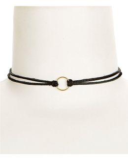 Karma Leather Choker Necklace
