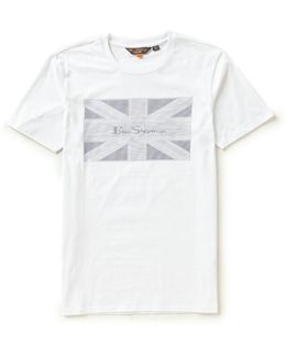 Short-sleeve Crewneck Union Jack Graphic Tee
