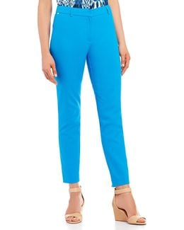 Stretch Cotton Grace Tapered Straight-leg Ankle Pants
