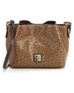 Ostrich Collection Mini Barlow Cross-body Bag