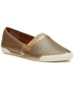 Melanie Perforated Leather Slip-on Sneakers