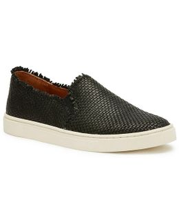 Ivy Fray Woven Leather Slip-on Sneakers