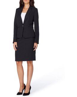 Pinstripe Skirt Suit