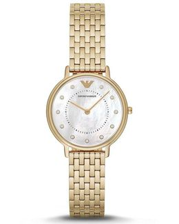 Mother-of-pearl Analog Stainless Steel Bracelet Watch