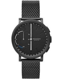 Hagen Connected Stainless Steel Mesh Bracelet Hybrid Smart Watch