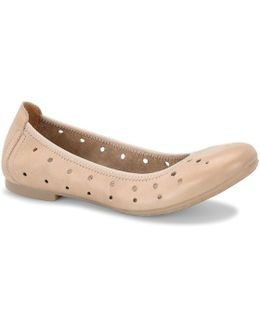 Julianne Leather Cut-out Flats