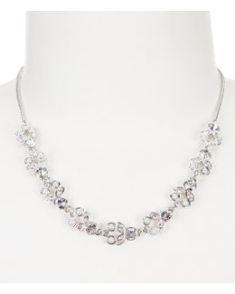 Faux-pearl & Crystal Frontal Necklace