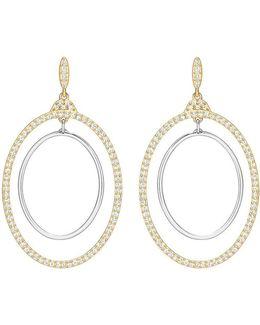 Gilberte Pavé Double-hoop Drop Earrings