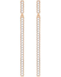 Game Pavé Linear Drop Earrings