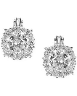 Cubic Zirconia Clip-on Stud Earrings