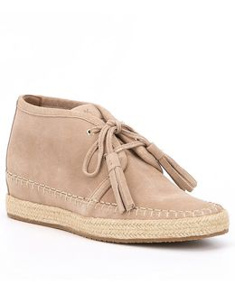 Kendrick Suede Lace-up Wedges