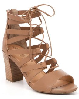 Adam Tucker By Manda Lace-up Leather Gladiator Sandals