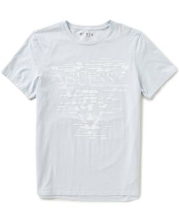 Short-sleeve Shifted Lines T-shirt