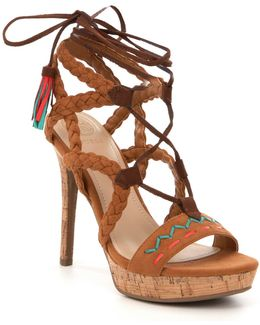 Adrita2 Braided -stitched Tassel Detail Sandals