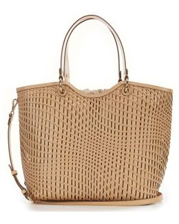 Genevieve Woven Large Tote