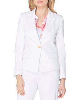 Petite Poplin Single Breasted Jacket