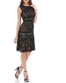 Soutache Fit & Flare Dress