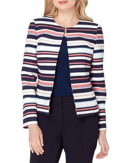 Petite Striped Jacket