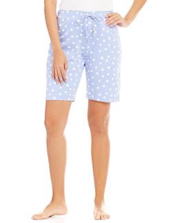 Topia Polka Dot Jersey Bermuda Sleep Shorts