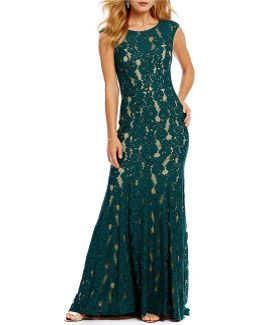 Illusion Lace Gown